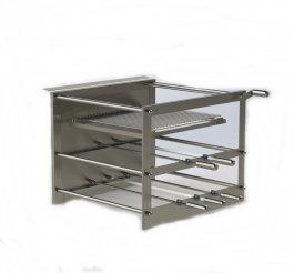 Imagem - Churrasqueira inox tecnogrill 5 espetos rotativos 2 galerias com grelha manual