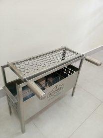 Imagem - Mini churrasqueira em aço inox com grelha