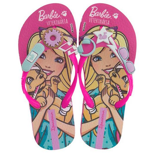 Chinelo Infantil Barbie Profissoes 26016
