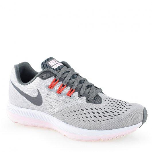 ce0e3b21c04 Tênis Nike Wmns Zoom Winflo 4 - 898485-010 Cinza-Pink