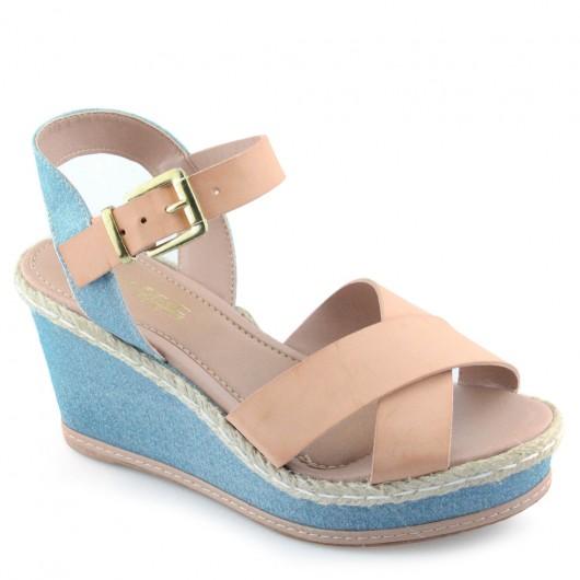 Sandalia Anabela Cromic 2907 Jeans