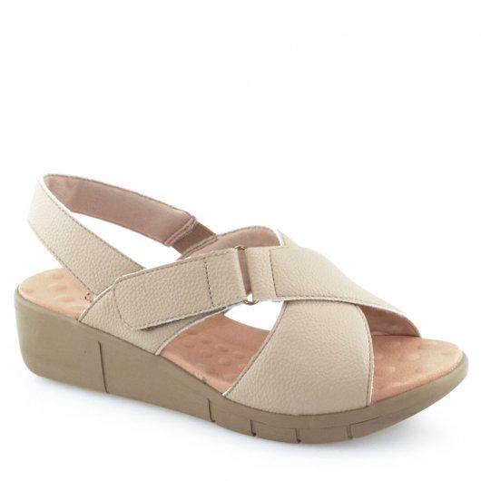 Sandália Malu Super Comfort com Tiras - 585004