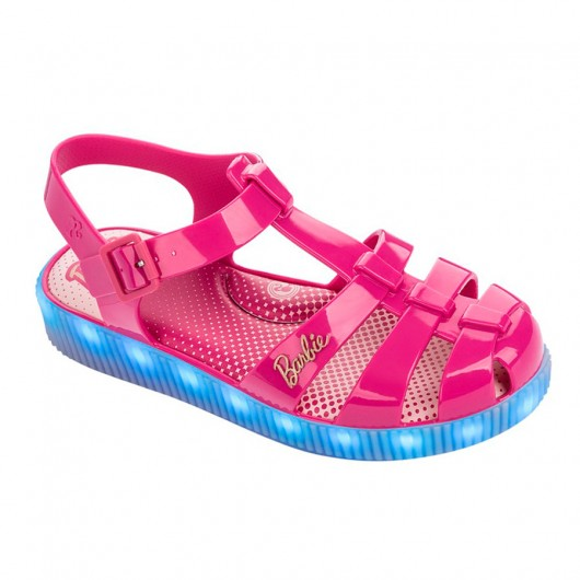Sandália Plataforma Infantil Barbie LED 21704