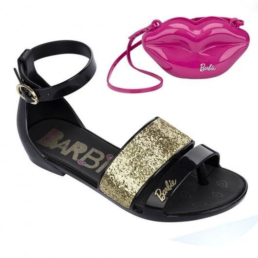 Sandalia Rasteira Barbie Pop Glam 21365