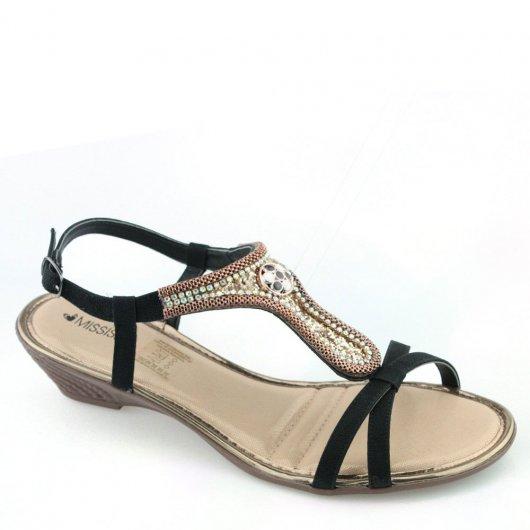 Sandalia Salto Baixo Mississipi X5643