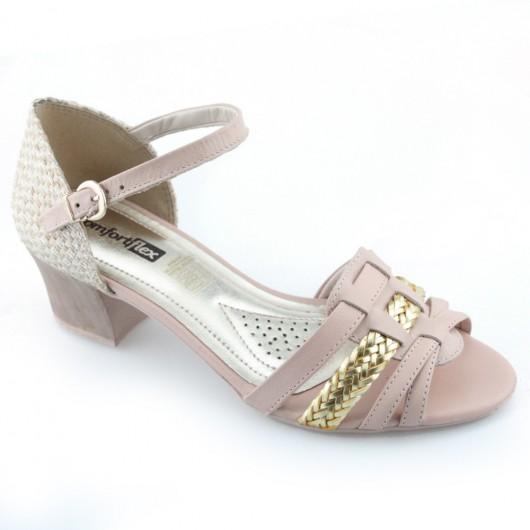 Sandalia Salto Medio ComfortFlex - 1671403 -