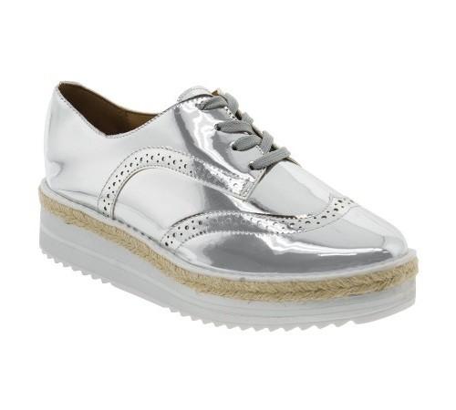 Sapato Feminino Oxford Metalizado Vizzano 1241101