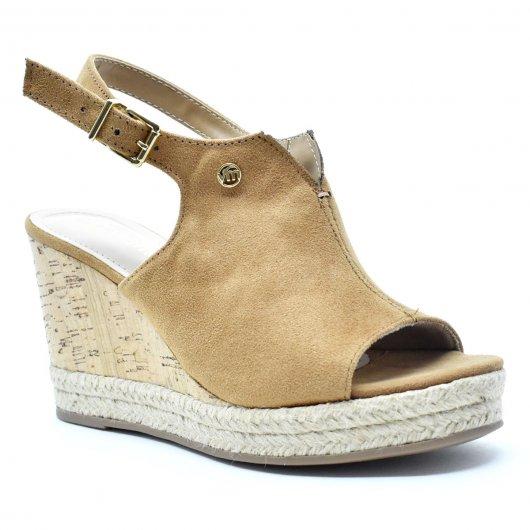 Sandália Feminina Anabela Salto Alto Open Boots Via Marte 17103