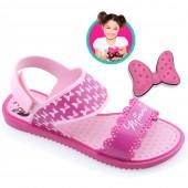 Sandália Rasteira Disney Minnie Fashion Maker 21366