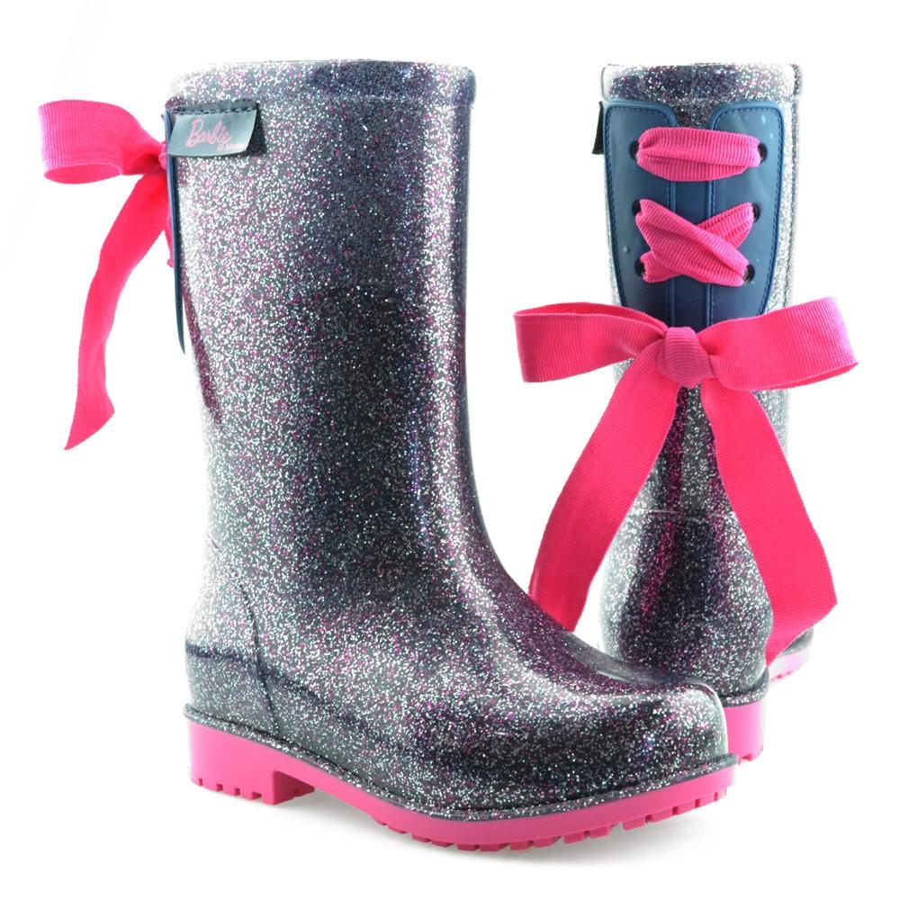 7a131a52d88 Bota Galocha Infantil Barbie 21390 - 25 ao 32 Lilas Glitter Rosa ...