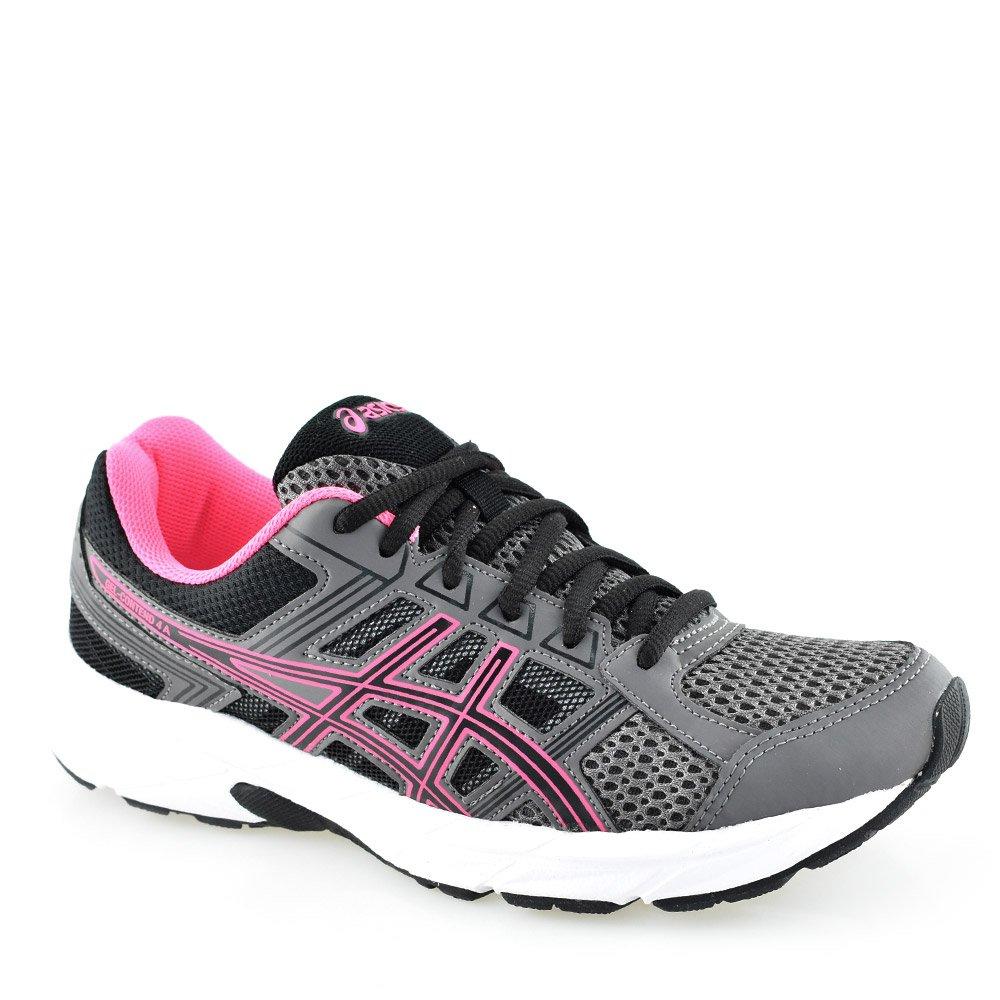 4dfe0eb1ce4 Tênis Feminino Asics Gel Contend 4 Carvão-Preto-Pink