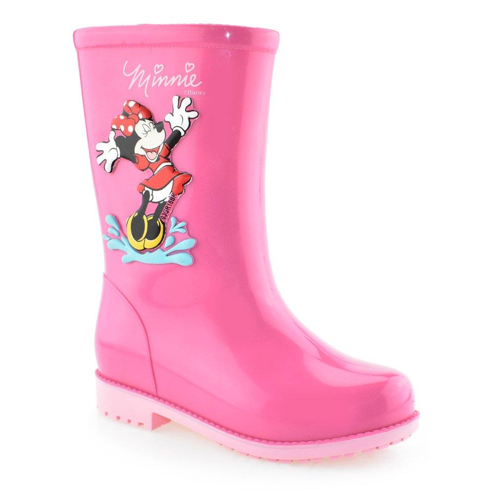 e3ce33c76b13a Bota Infantil Galocha Disney Fashion 21753 Rosa   Godiva Calçados