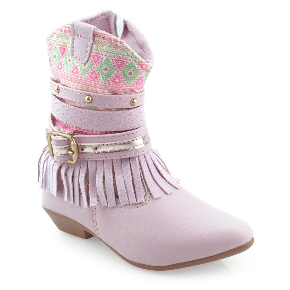 f311e28e7 Bota Country Infantil Luelua 6052-01 - 20 ao 24 Rosa   Godiva Calçados