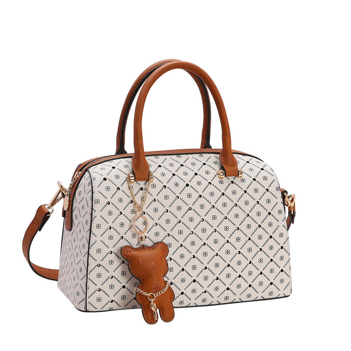 Bolsa Feminina Bau Chenson Monograma Star 3482736 Branco Godiva Calcados