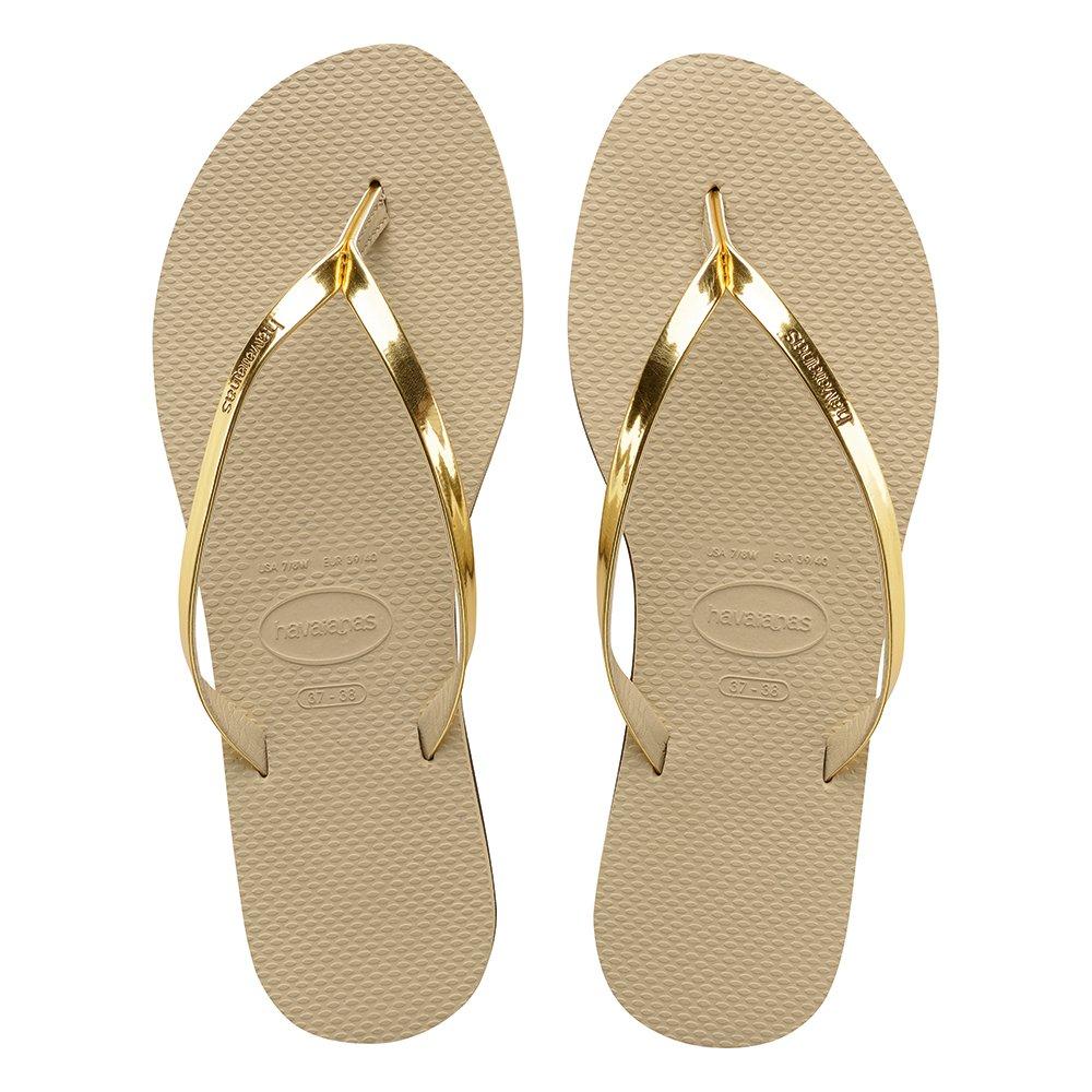 4279ce9498 Chinelo Havaianas Slim You Met Areia-dourado