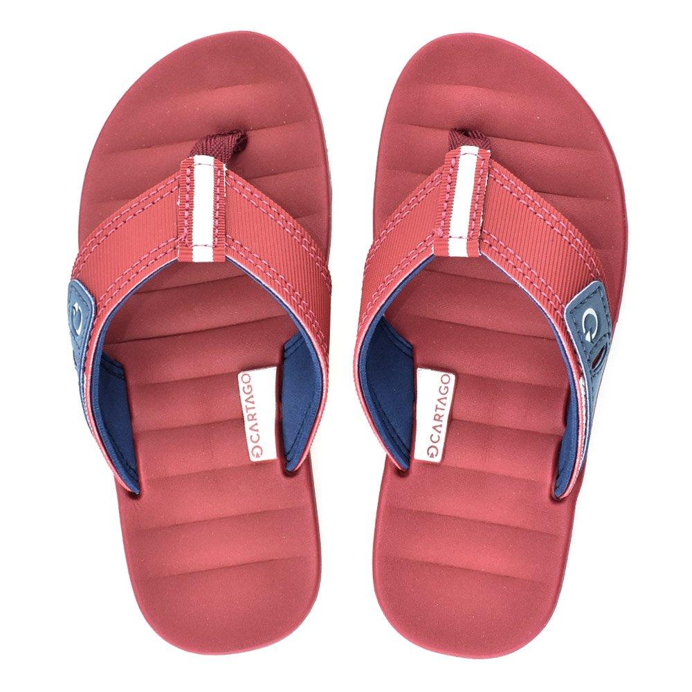 21e2229be Chinelo Infantil Cartago Malaga 10995 Branco-Vermelho-Azul