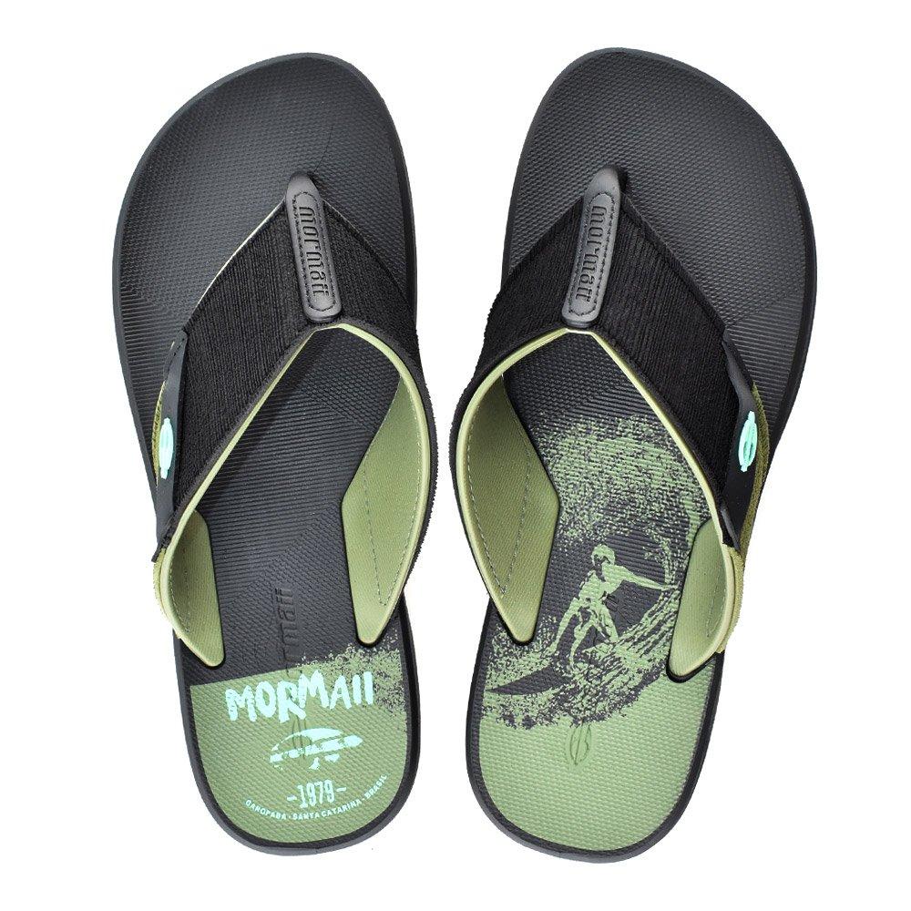 2756887d1 Chinelo Mormaii Drop II 11171 Preto Verde | Godiva Calçados