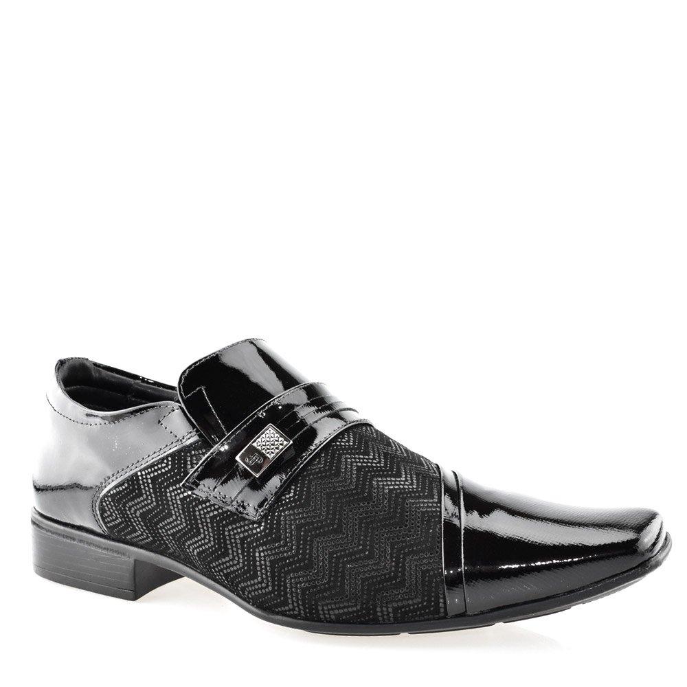 9c1cc1047 Sapato Masculino Social Jota Pe 40755 Verniz Preto