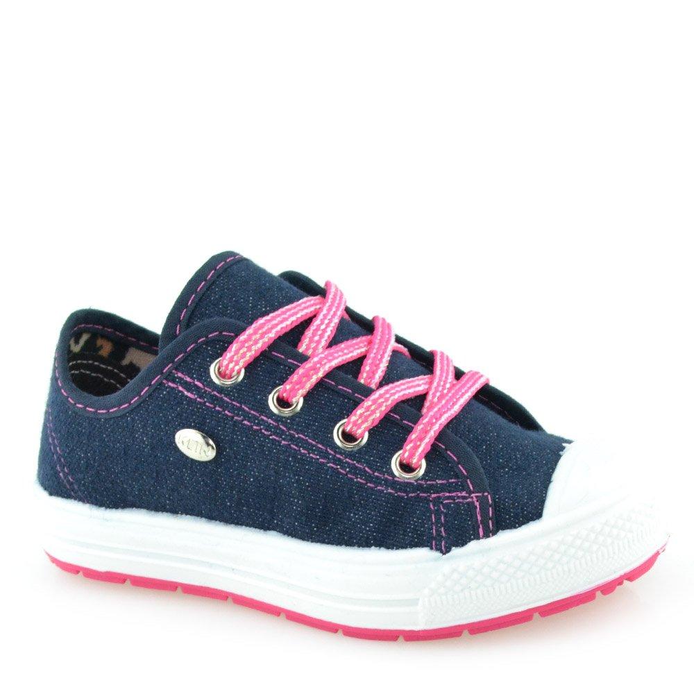 Tênis Infantil Klin Replay Baby 471051 - 22 ao 27 Jeans-Pink ... 76d5d4a8dd8fc