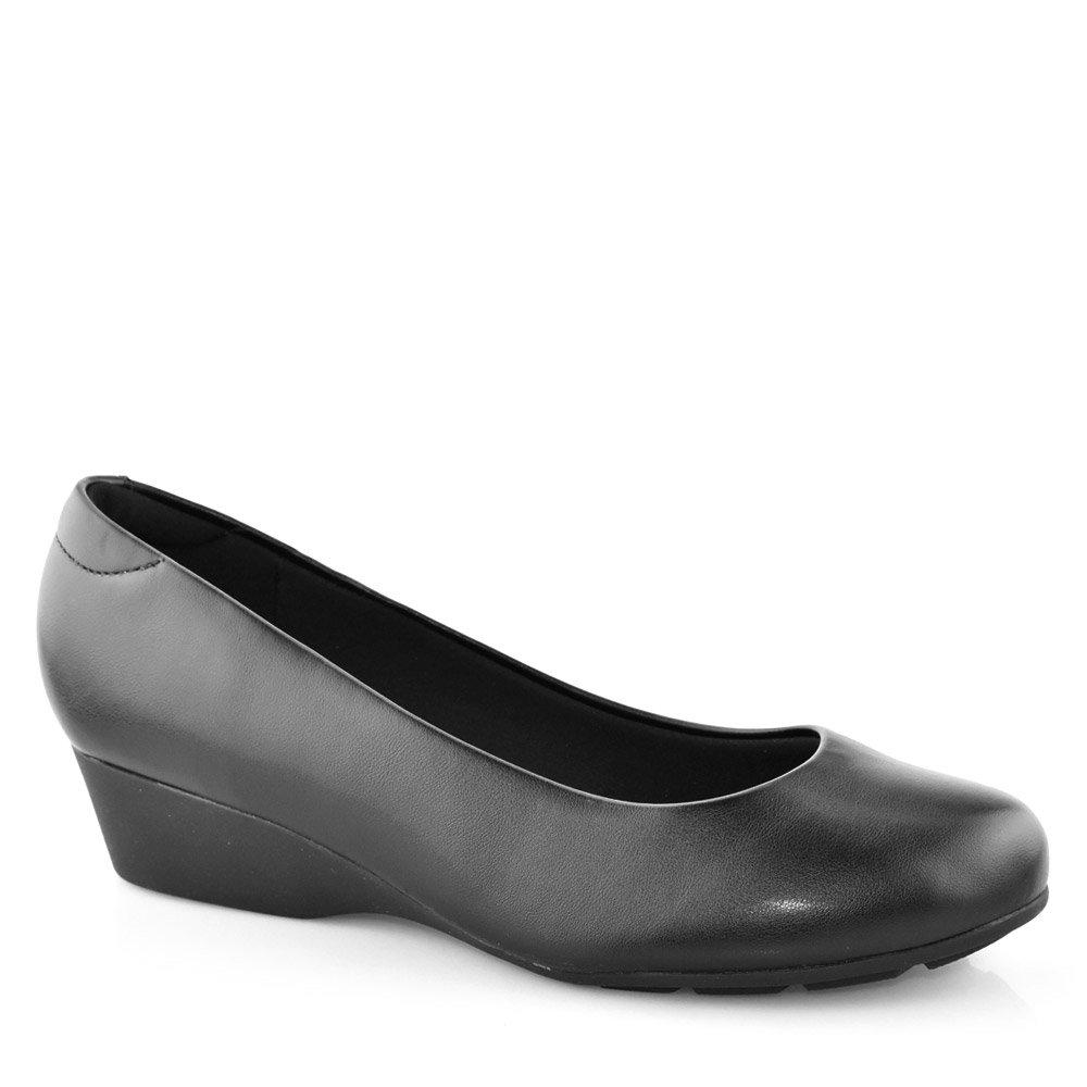 c719139e8 Sapato Feminino Anabela Conforto Modare 7014200 Preto   Godiva Calçados