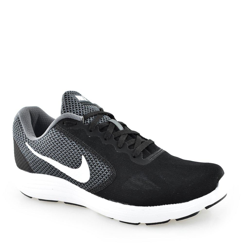 80c201b78f Tenis Masculino Nike Revolution 3 - 819300 Cinza-Preto-Branco ...