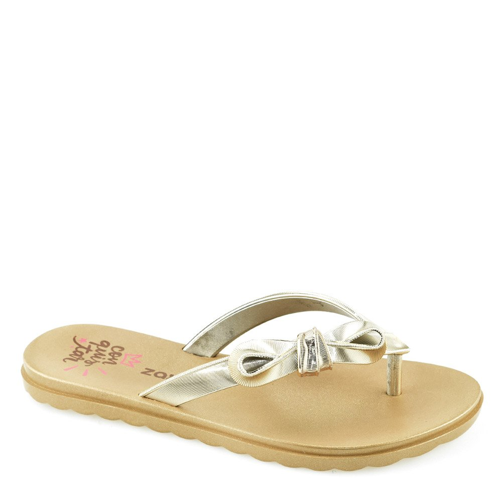 3bd7f690a Rasteirinha Metalizado Laço Zaxy - 17486 Dourado | Godiva Calçados