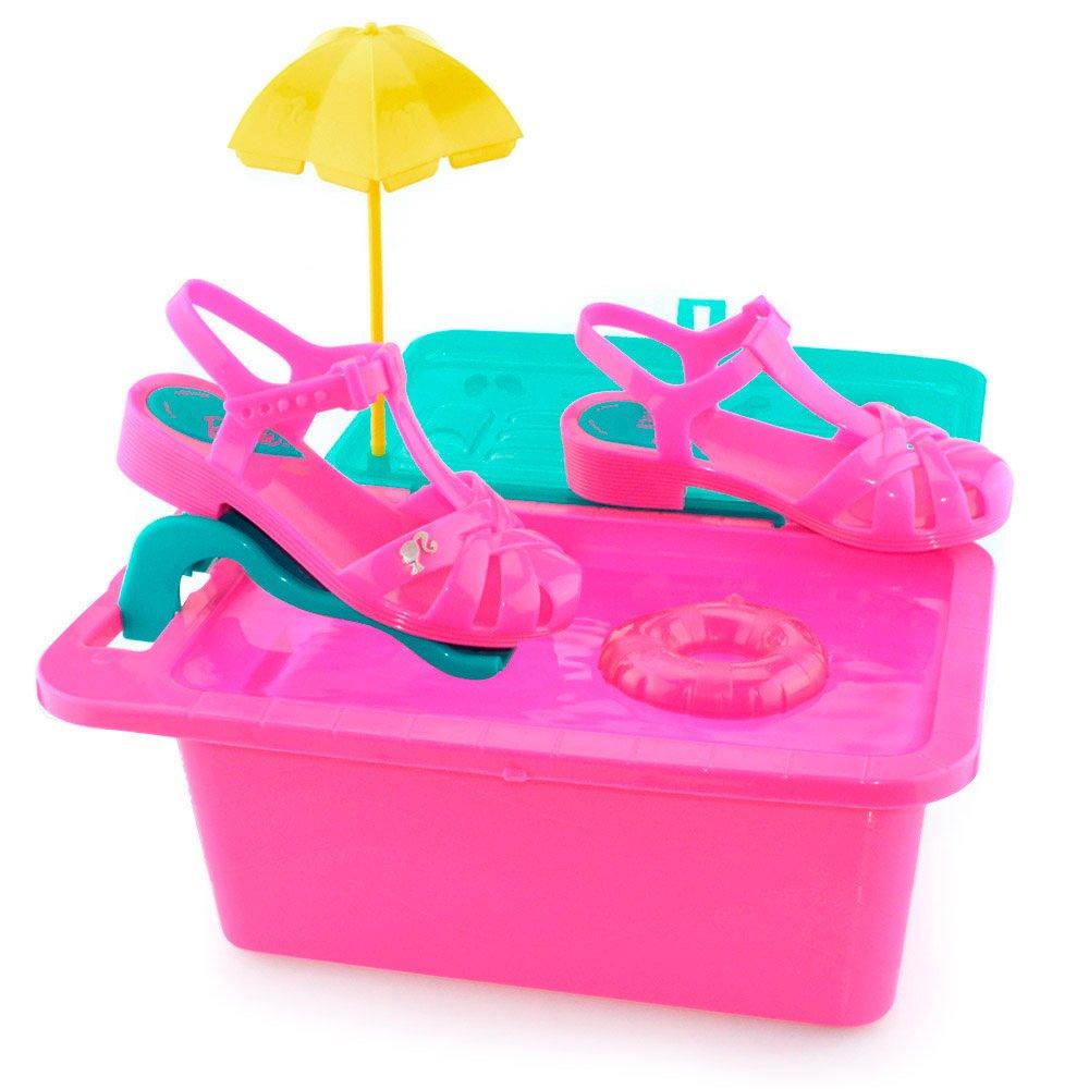 844e7012a Sandalia Infantil Barbie Festa na Piscina 21600 - 23 ao 34 Rosa ...