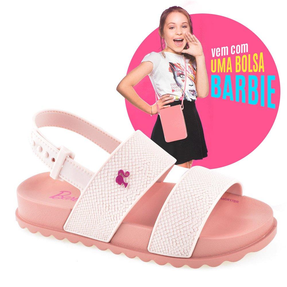 b4cea5adfe Sandália Infantil Barbie Magic Bag 21632 Rosa Rosa Claro
