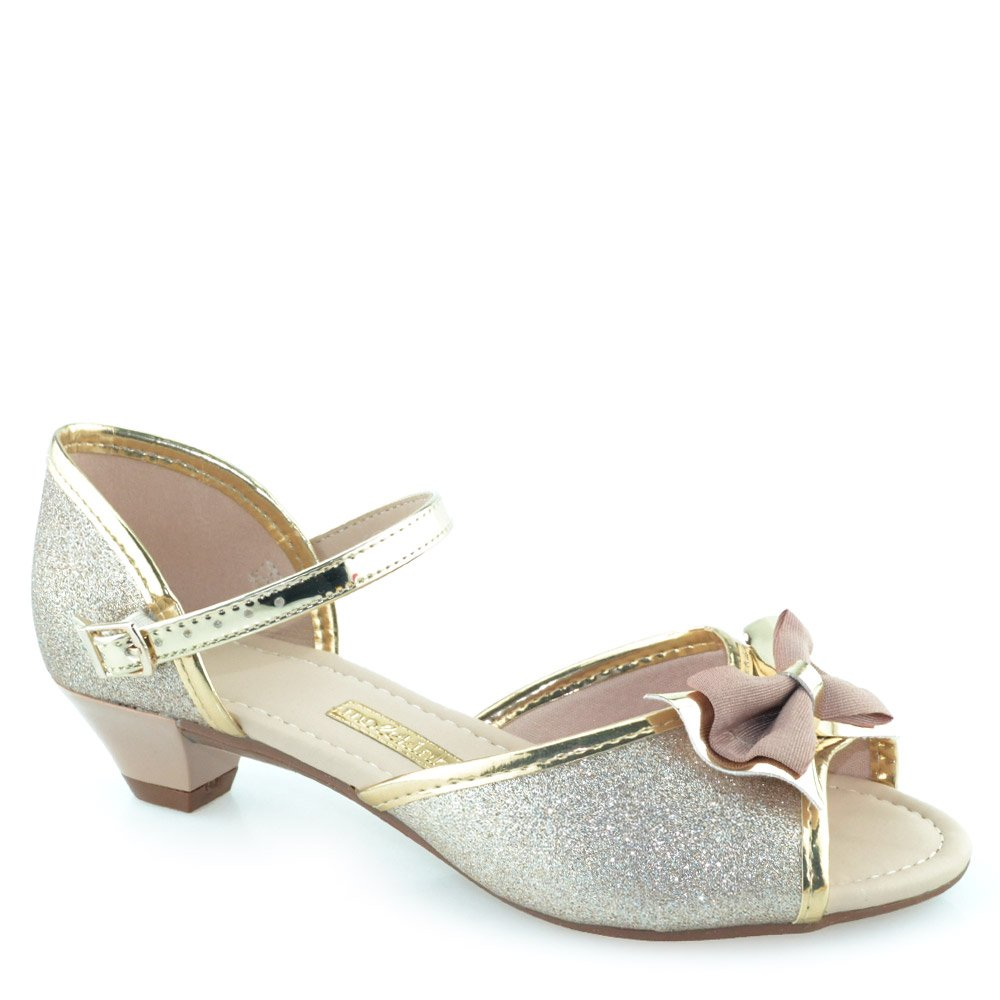 69e144a55 Sandalia Infantil Com Glitter e Laco Molekinha 2080305 Dourado Ouro ...