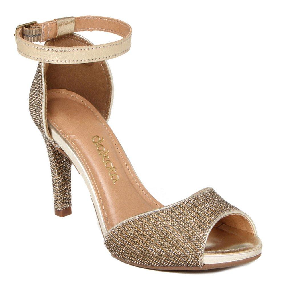 Sandalia Salto Alto Dakota Z1315 Ouro | Godiva Calçados