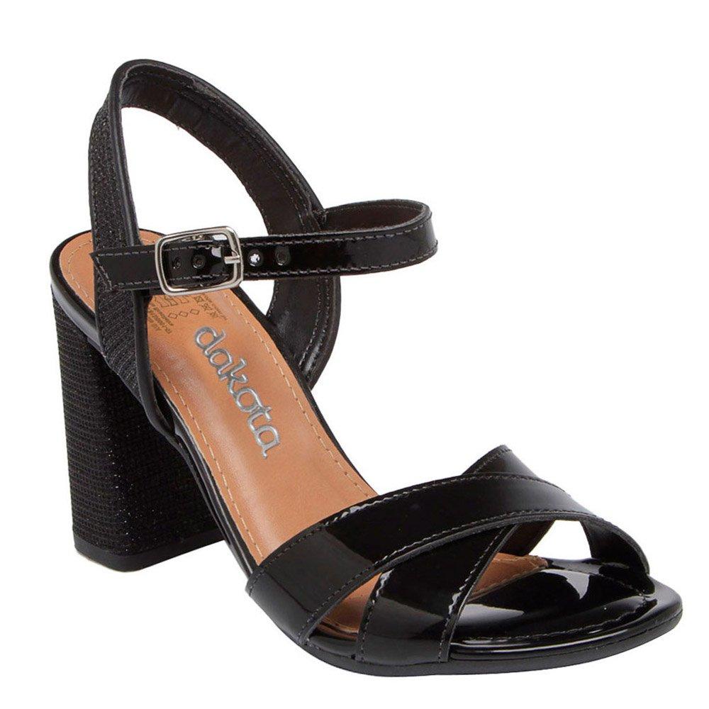 Sandalia Salto Alto Dakota Z1701 Preto