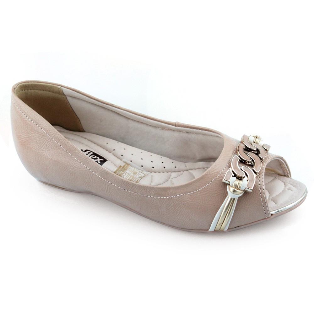 95f78cbc4 Sapatilha Peep Toe ComfortFlex - 1676403 - Verniz Avela | Godiva ...