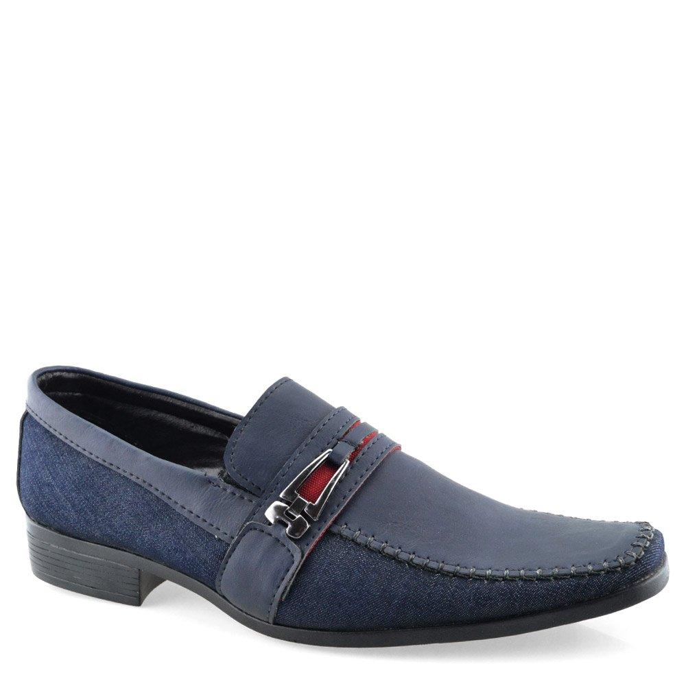 6b68d9740 Sapato Masculino Euroflex - 1015 Jeans Azul   Godiva Calçados