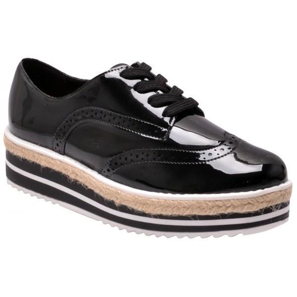 f905674acd Sapato Oxford Metalizado Vizzano 1241101 Preto-branco