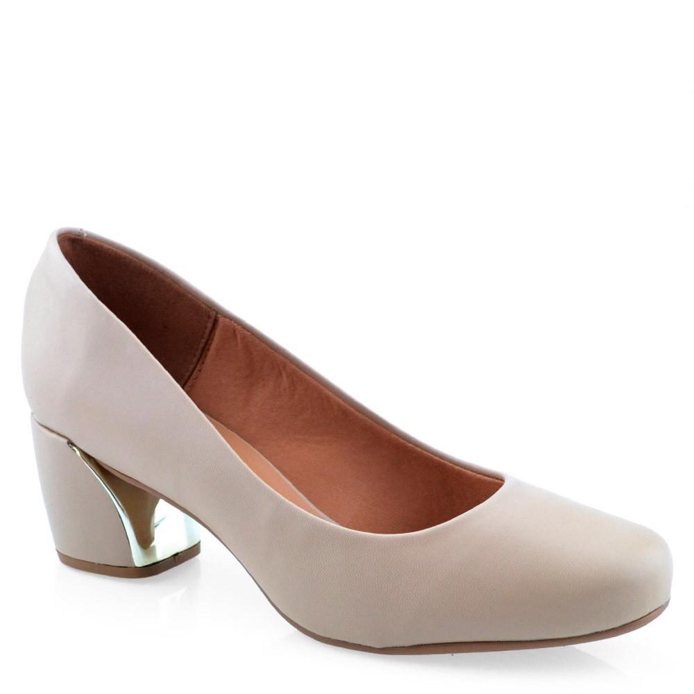 ab878f774 Sapato Salto Médio Quadrado Vizzano - 1245100 Bege