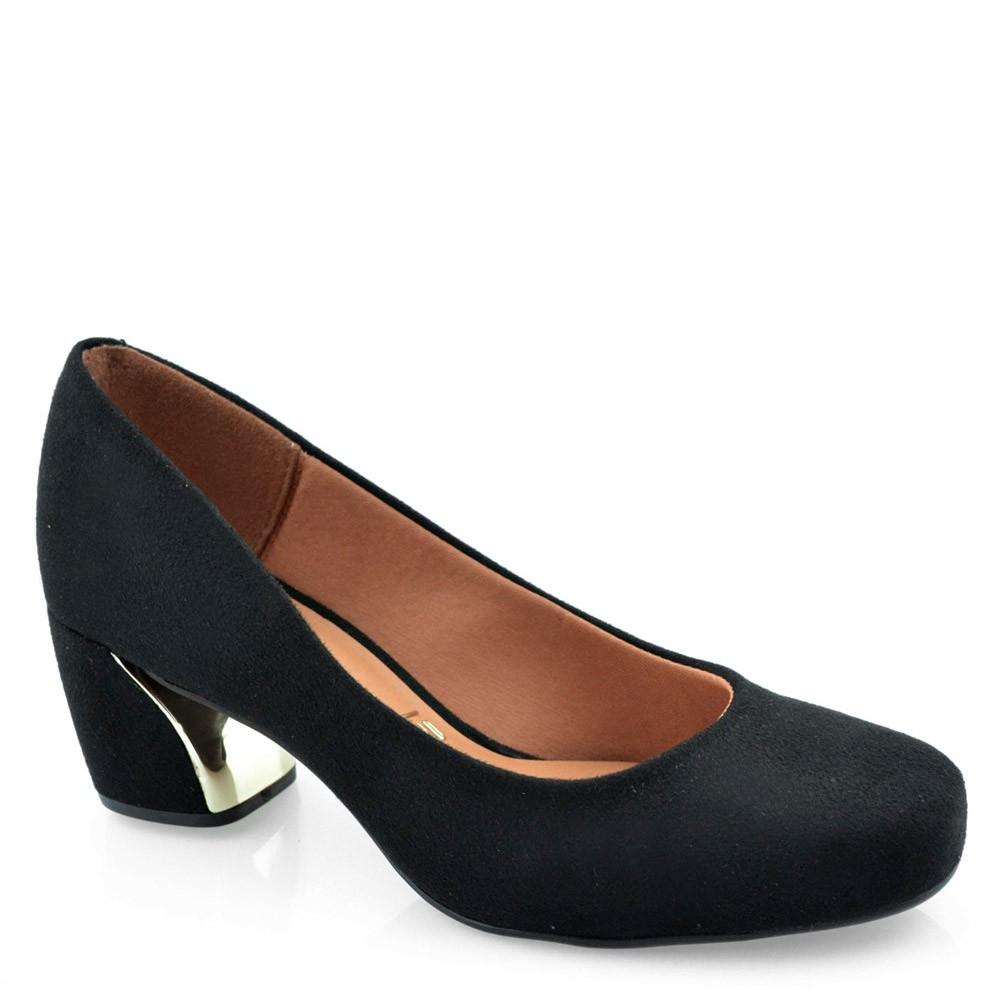 e743e387d Sapato Salto Médio Quadrado Vizzano - 1245100 Preto