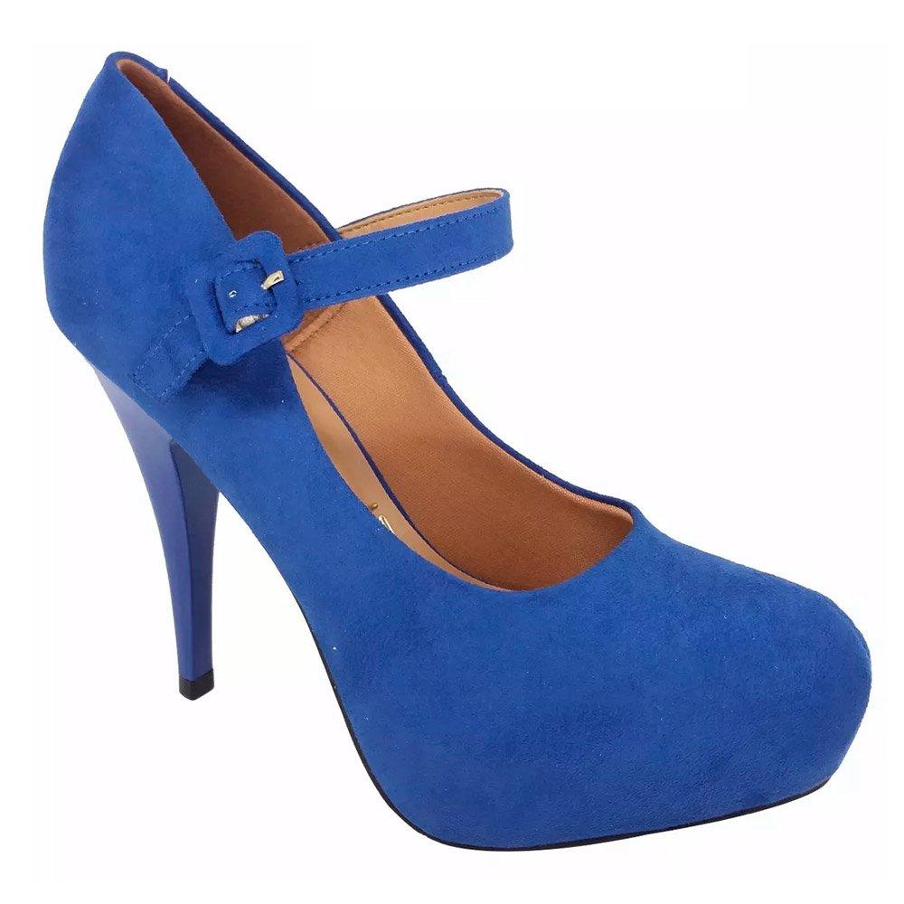 fcdc95864e Scarpin Meia Pata Vizzano 1143304 Azul