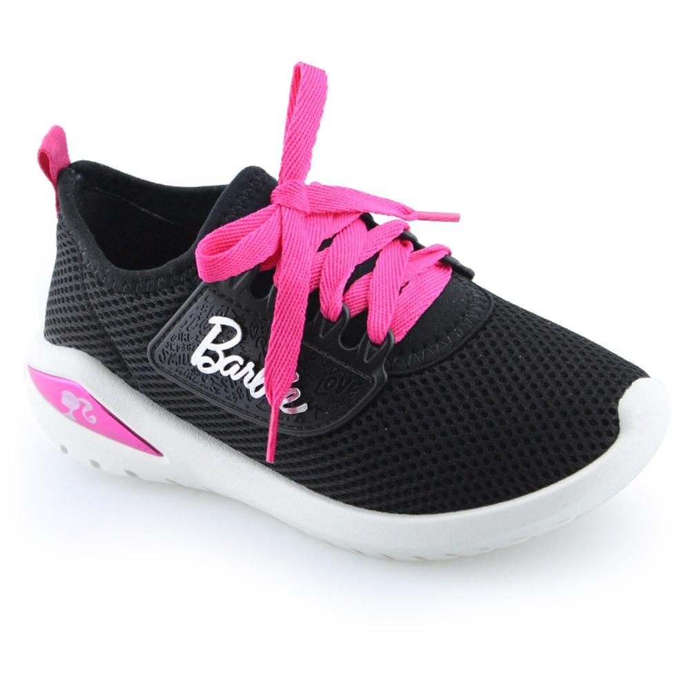 c95168f3e Tênis Barbie Glamour Grendene - 21494 - Preto-branco