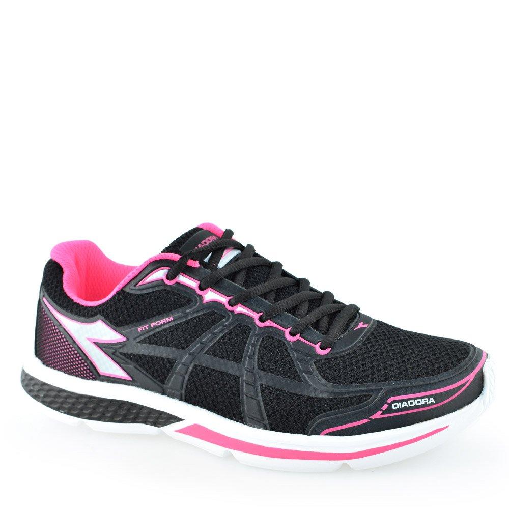 Tenis Diadora Fit Form W Preto-Pink  4ec6efb7e3e