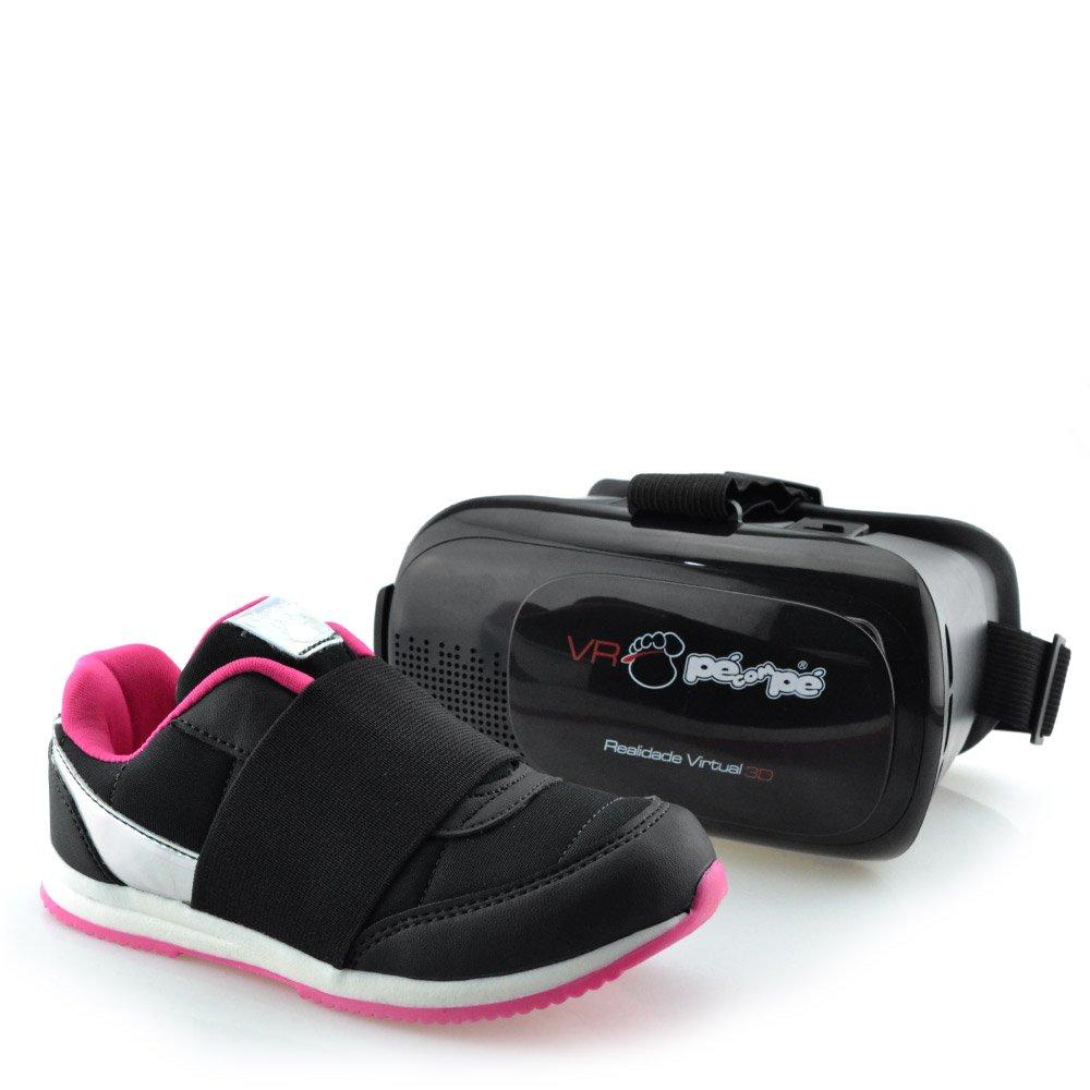 17080a6ace9 Tênis Pé Com Pé + Óculos de Realidade Virtual VR 3D - 60001 Preto ...