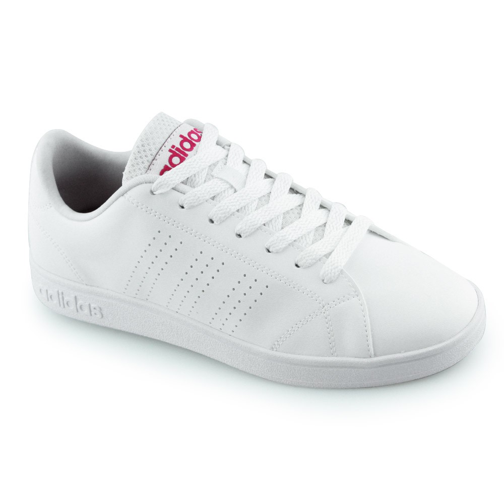 7cb57d96b Tênis Feminino Adidas Advantage B74574 Branco Pink   Godiva Calçados