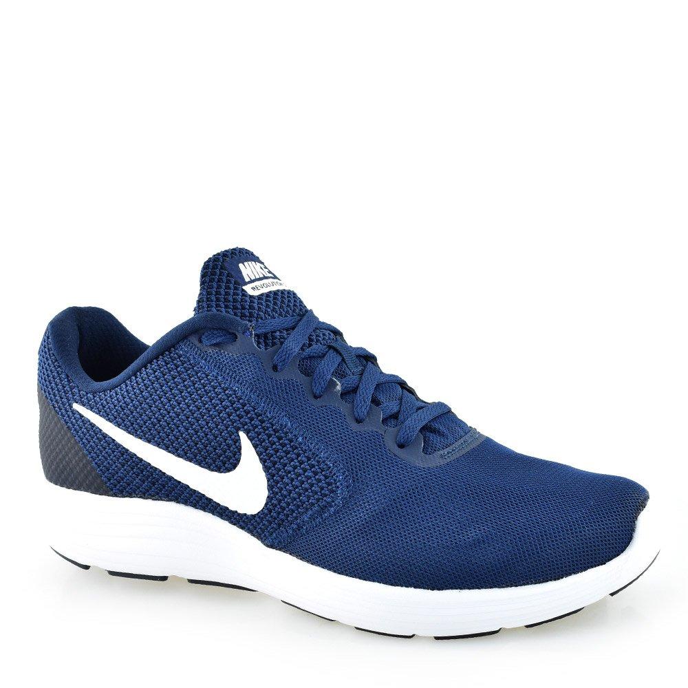 83cc56634c5 Tenis Masculino Nike Revolution 3 - 819300 Marinho-branco