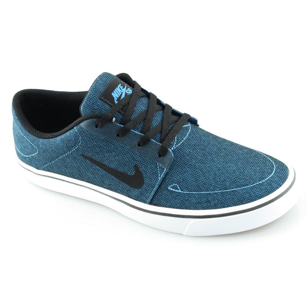 0fd1607cb62 Tenis Nike Portmore canvas 723874 Azul-preto-branco