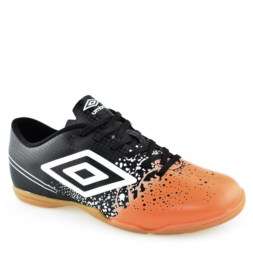 Chuteira Futsal Umbro Wave Indoor Preto-laranja-branco  b45a1918360a9