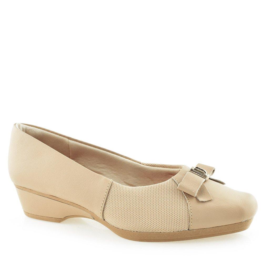 9719dc3ef Sapato Salto Anabela Care Joanetes Usaflex Z2309 Blush | Godiva Calçados