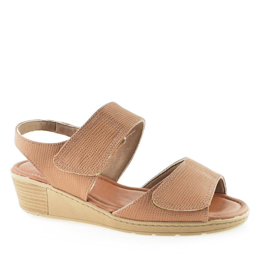d60b5fa38 Sandália Conforto Ajustável Usaflex Z8315 Camel | Godiva Calçados