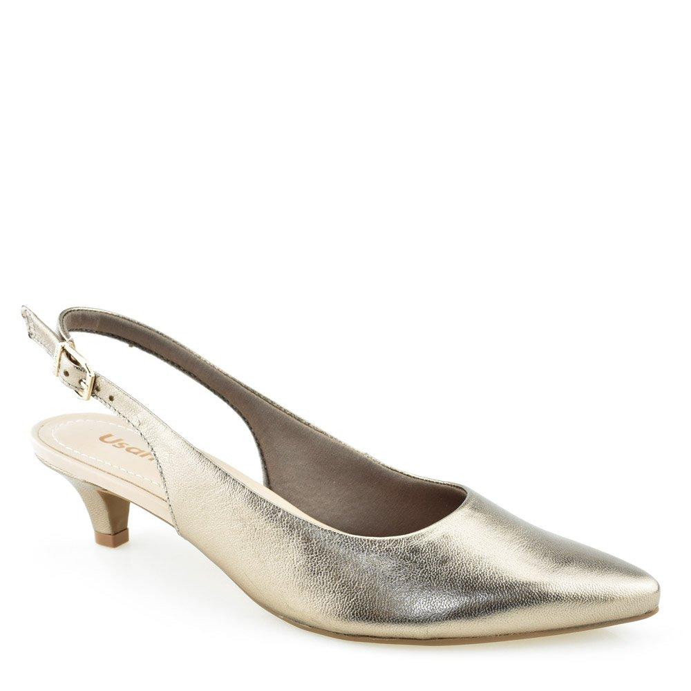 62203fb6c2d Sapato Chanel Usaflex Q4725 Chumbo