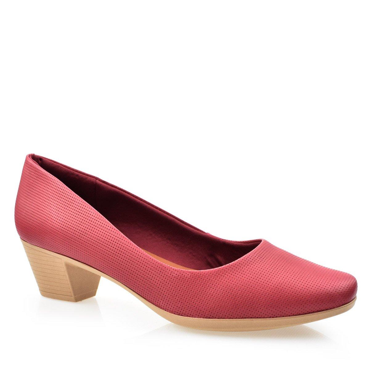 f67dee7332 Sapato Feminino Couro Conforto Usaflex AA2801 Rebu