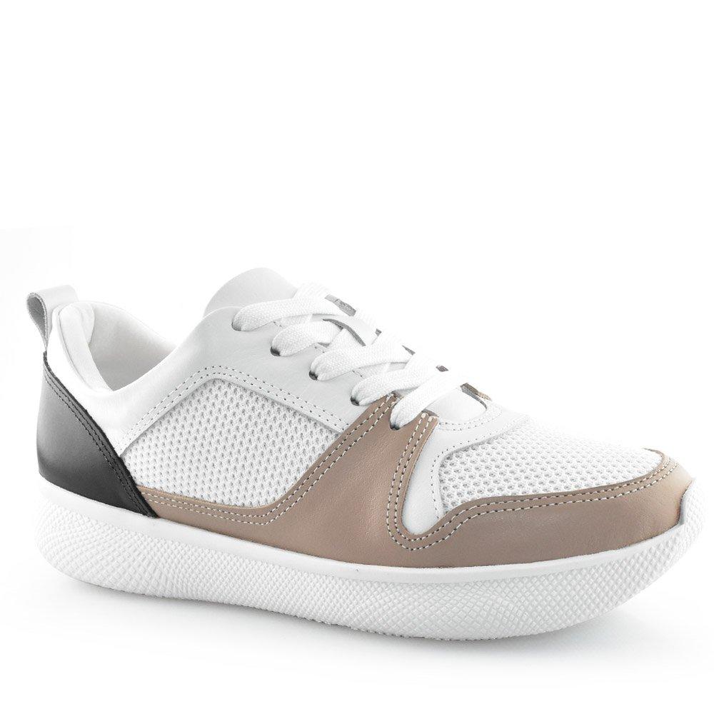 80855e59d Tênis Feminino Usaflex AA4604 Rolha-branco-preto | Godiva Calçados