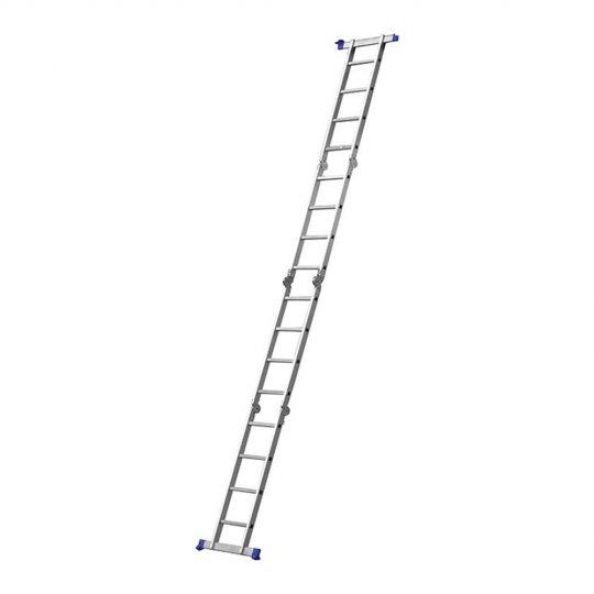 Escada Multifuncional 4x4 16 Degraus Mor Aluminio